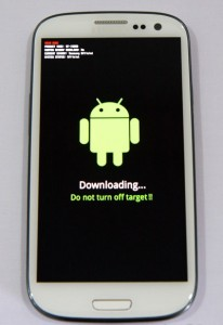 samsung galaxy s3 download mode image screenshot