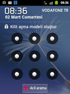 Android telefonu sifreleme