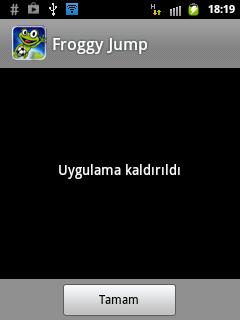 Android'de yüklediğim uygulmayaı silme