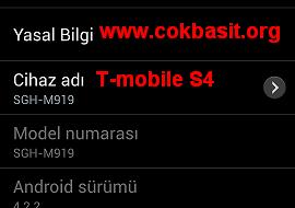 Samsung Galaxy S4 SGH-M919 SPT İmei Repair