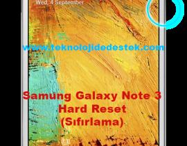Note 3 Hard Reset Format Atma