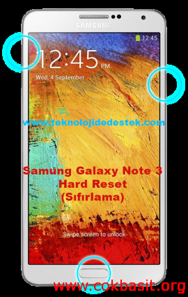Note 3 Hard Reset Format Atma