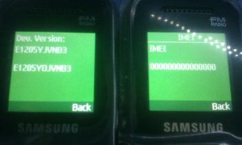 Samsung E1205Y İmei Repair Nasıl Yapılır ?