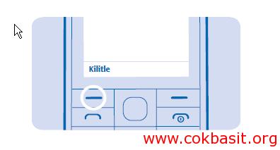Nokia 225 tuş nasıl kilitlenir ve tuş kilidi nasıl açılır ?