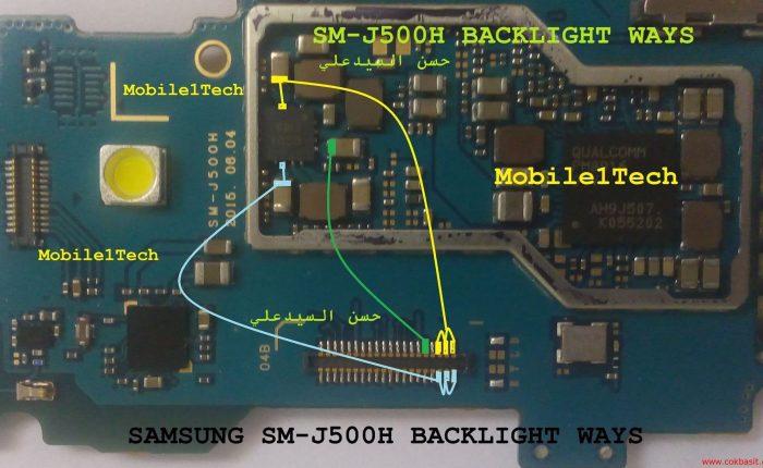Samsung J5 2015 Ekran ışığı şeması j500 lcd back light